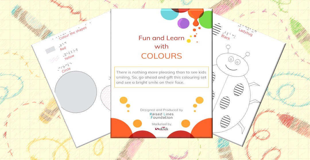 Picture of tactile coloring book